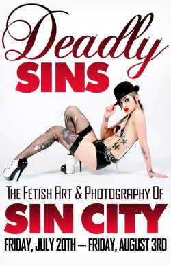 Sin City Deadly Sins flyer design by Isaac Terpstra