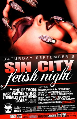 Sin City Fetish Night — Saturday, September 8th at The Electric Owl
