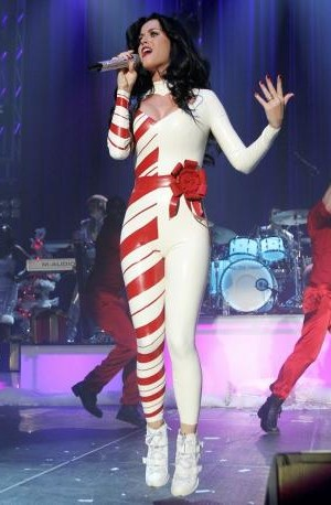 Katy-Perry-Latex-Catsuit