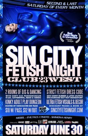 Sin City June 30, 2012 Poster Artwork