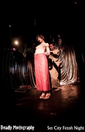 Guest performer shibari master Hajime Kinoko from Tokyo, Japan, with the lovely Lydia DeThrill!
