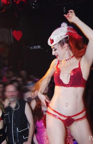 Headline burlesque performer Burgundy Brixx knocks 'em dead